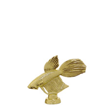 Betta Fish Gold Trophy Figure