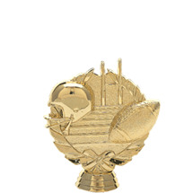 3d Football Gold Trophy Figure