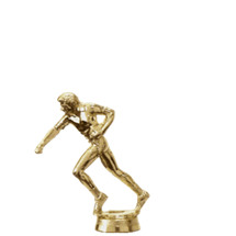 Female Flag Football Gold Trophy Figure