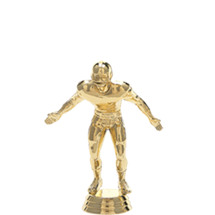Football Lineman Gold Trophy Figure