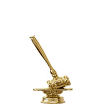 Gavel Gold Trophy Figure