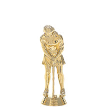 Female Golf Putter Gold Trophy Figure