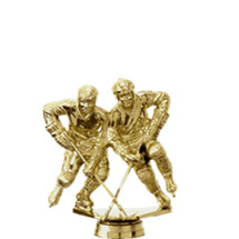 Ice Hockey Double Action Gold Trophy Figure