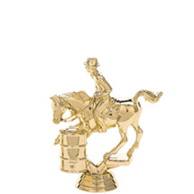 Barrel Racing Gold Trophy Figure