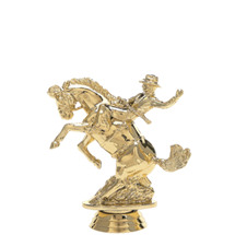 Bucking Bronco Gold Trophy Figure
