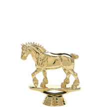 Draft Horse Gold Trophy Figure
