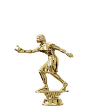 Horseshoe Pitch Female Gold Trophy Figure