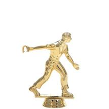 Horseshoe Pitcher Male Gold Trophy Figure