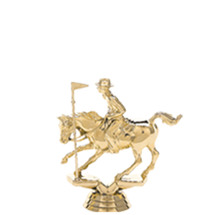 Pole Bending Horse Gold Trophy Figure
