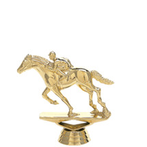 Racehorse w/Jockey Gold Trophy Figure