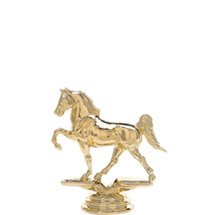 Tennessee Walker Horse Gold Trophy Figure