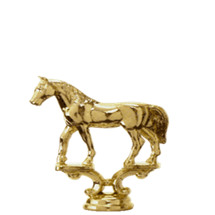 Western Plain Horse Gold Trophy Figure