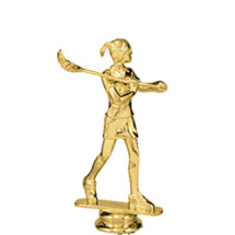 Lacrosse Female Gold Trophy Figure