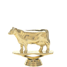 Dairy Cow Gold Trophy Figure
