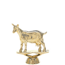 Dairy Goat Gold Trophy Figure