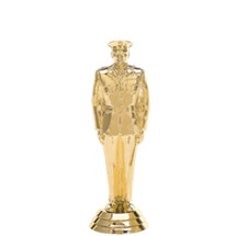 Military Male Gold Trophy Figure