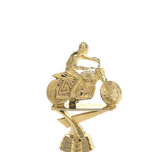 Flat Track Motorcycle Gold Trophy Figure