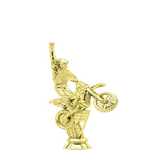 Off Road Motorcycle Gold Trophy Figure
