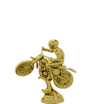 Scrambler Motorcycle Gold Trophy Figure