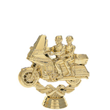 Double Touring Bike Gold Trophy Figure