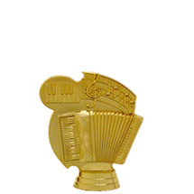 Accordion 3-D Gold Trophy Figure