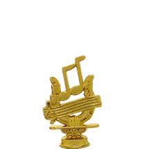 Music Clef Gold Trophy Figure