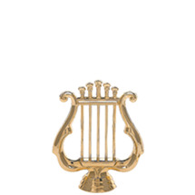 Music Lyre Gold Trophy Figure