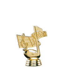 Music Note Gold Trophy Figure