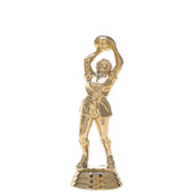 Netball Gold Trophy Figure