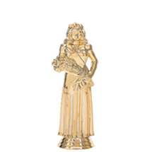 Beauty Queen in Gown Gold Trophy Figure