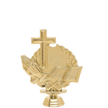 Religious 3-D Gold Trophy Figure