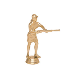 Skeetshooter Female Gold Trophy Figure