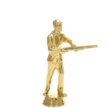 Skeetshooter Male Gold Trophy Figure