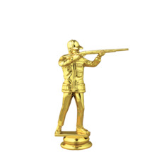 Trap Shooter Male Gold Trophy Figure