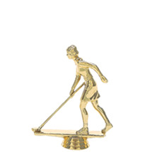 Shuffleboard w/Deck Female Gold Trophy Figure