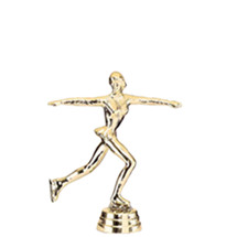 Ice Skater Female Gold Trophy Figure