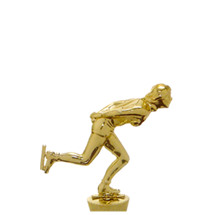 Ice Speed Skater Female Gold Trophy Figure