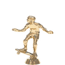 Skateboard w/Rider Gold Trophy Figure