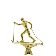 Cross Country Skier Male Gold Trophy Figure