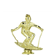 Downhill Skier Male Gold Trophy Figure
