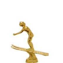 Water Ski Jumper Female Gold Trophy Figure