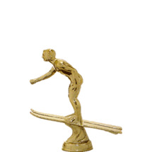 Water Ski Jumper Male Gold Trophy Figure
