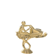 Snowmobile Gold Trophy Figure