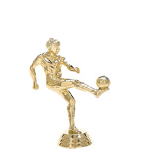 Soccer Kicker Male Gold Trophy Figure