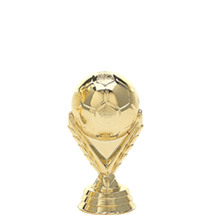 Model Soccerball Gold Trophy Figure
