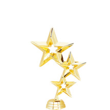 Triple Stars Gold Trophy Figure