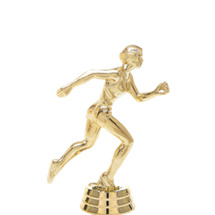 Track Runner Female Gold Trophy Figure