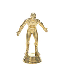 Wrestler Gold Trophy Figure