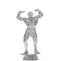 Adonis Male Silver Trophy Figure