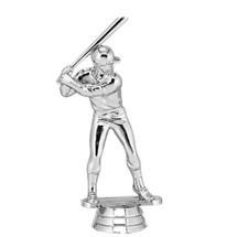 Baseball Batter Male Silver Trophy Figure